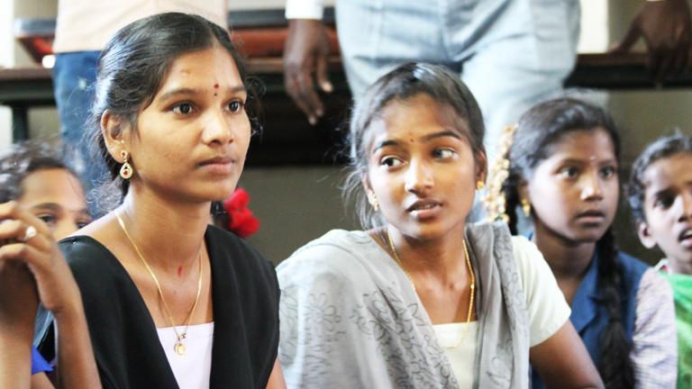 Mädchen in Thennamadevi