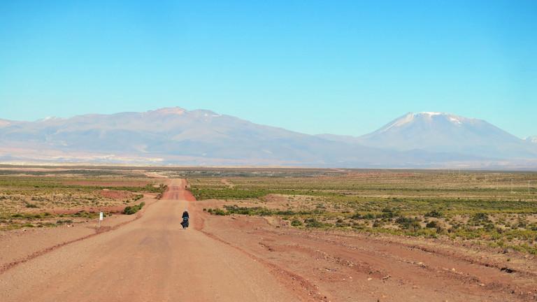 Philipp Groten auf dem Rad in Bolivien