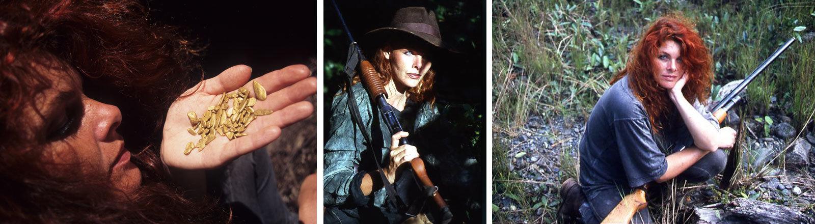 Ariane Golpira auf Goldsucher-Expedition