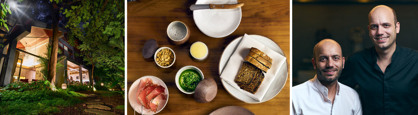 Restaurant Sühring in Bangkok: Außenansicht, Speisenauswahl, Thomas und Mathias Sühring