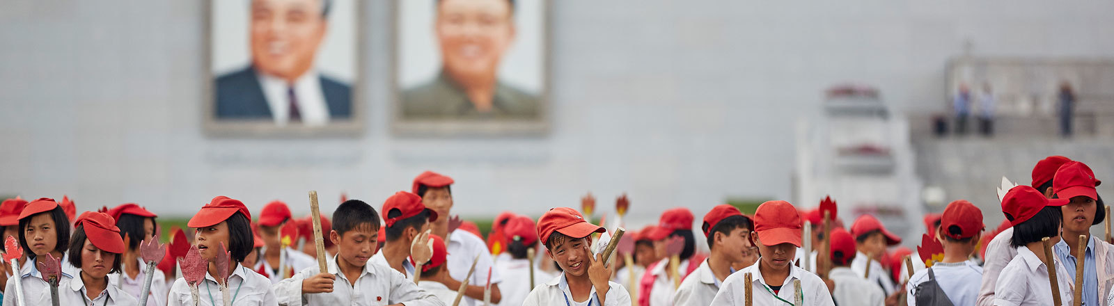 Parade in Pjöngjang, Nordkorea