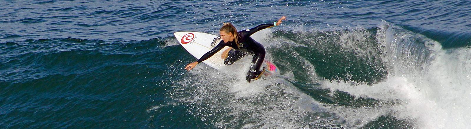 Die Surferin Valeska Schneider