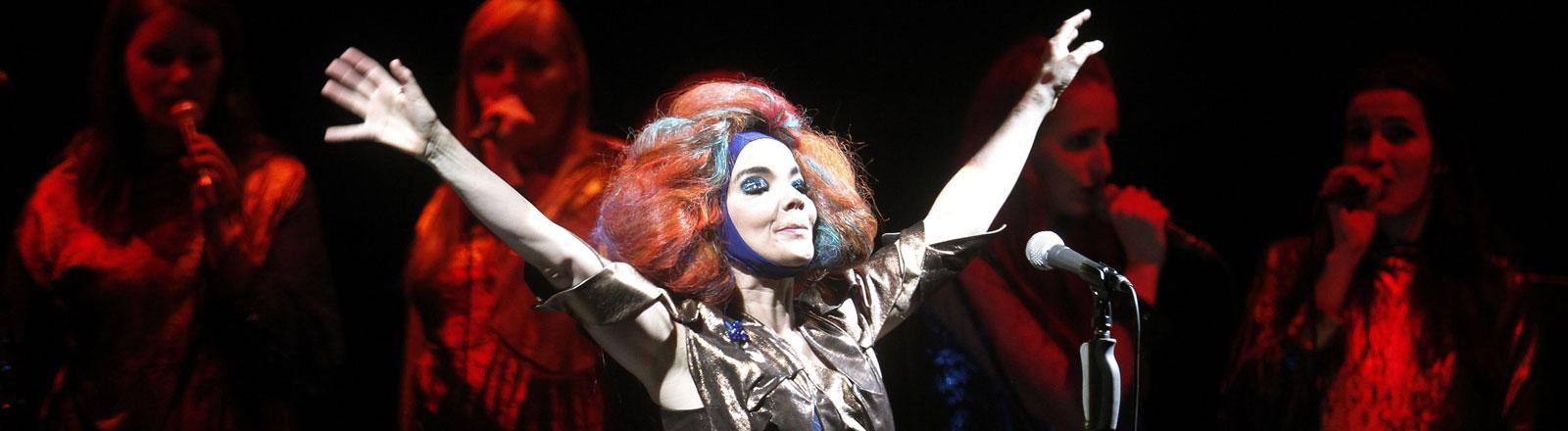 Björk beim Lollapalooza Music Festival in Santiago de Chile.