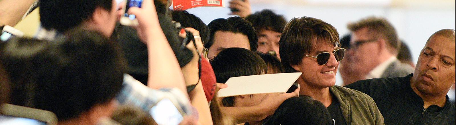 Tom Cruise bei einem Pressetermin in Tokio.