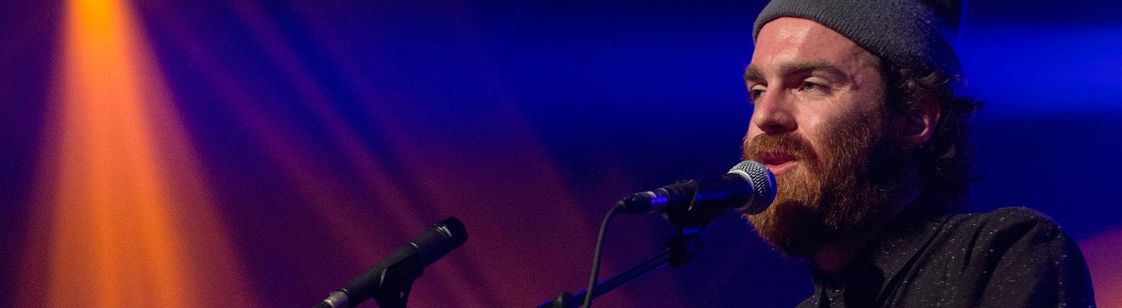 Der britische Musiker Chet Faker auf dem Montreux Jazz Lab am 13.07.2014.