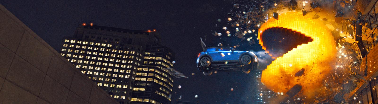 Pac-Man in einer Szene des Films Pixels.