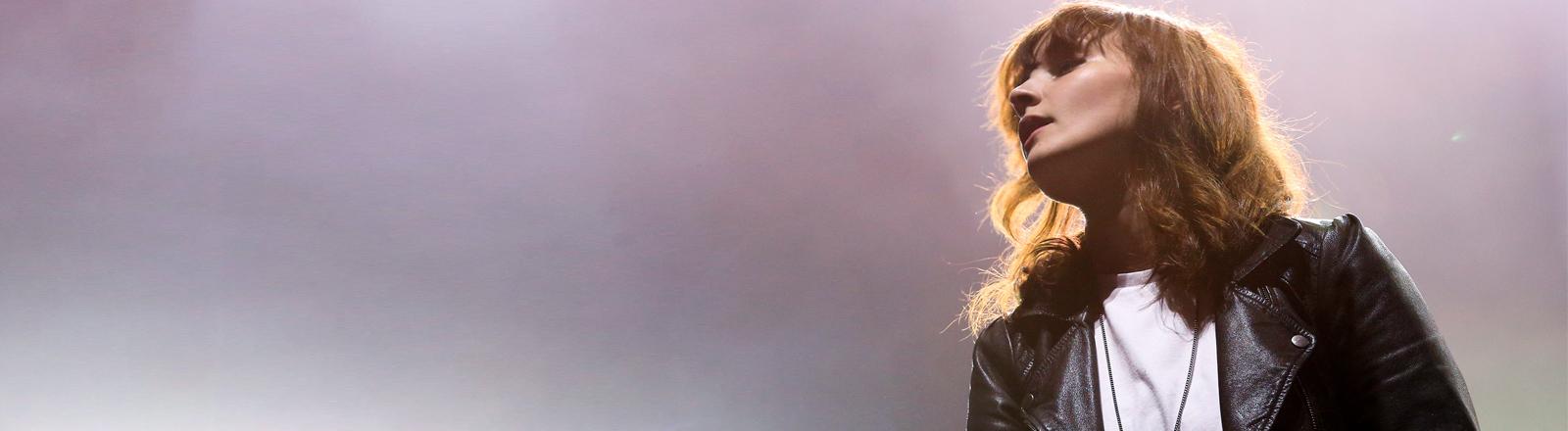 Die Sängerin der Band Chvrches, Lauren Mayberry, am 21.08.2014.