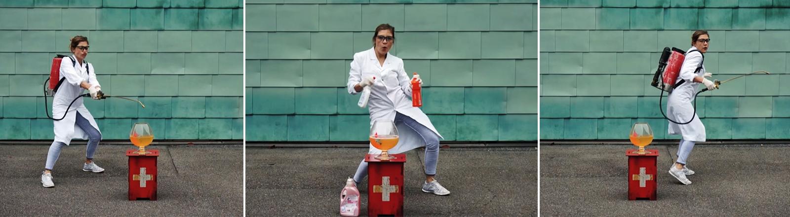 Florence Metz tanzt ihre Promotion in einem Youtube-Video.