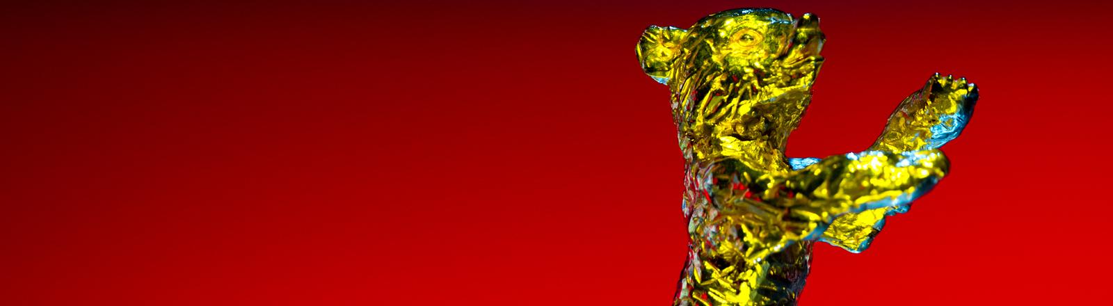 Das Maskottchen der Berlinale: der goldene Bär.