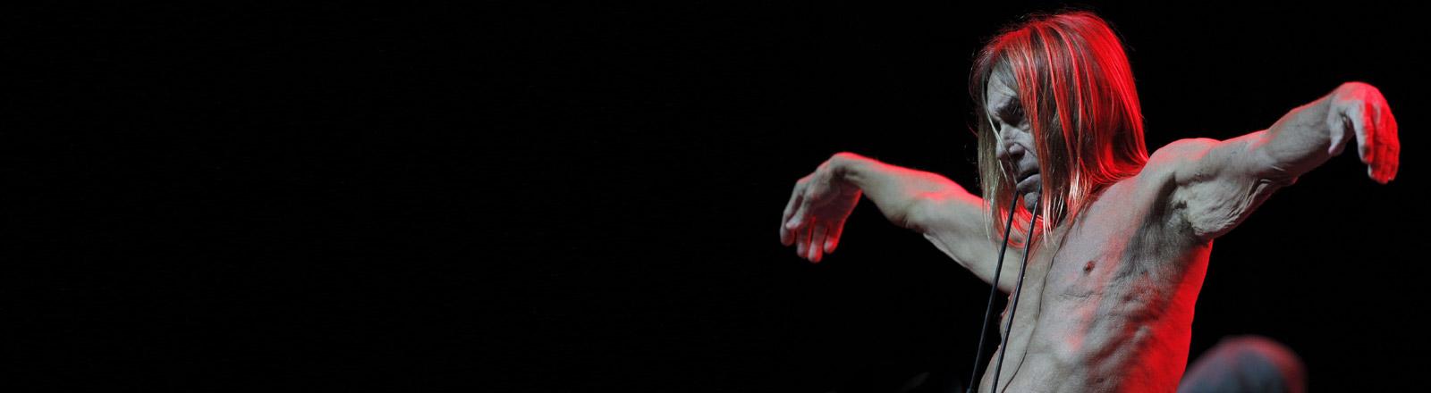 Iggy Pop auf der Bühne