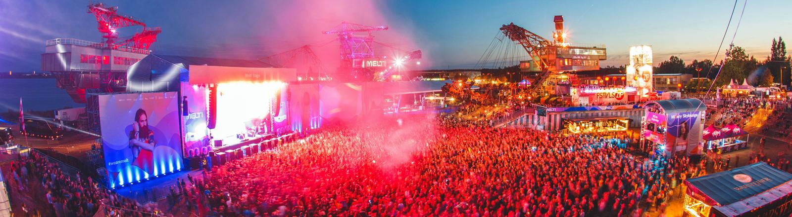 Die Hauptbühne des Melt-Festivals am 17.07.2016.