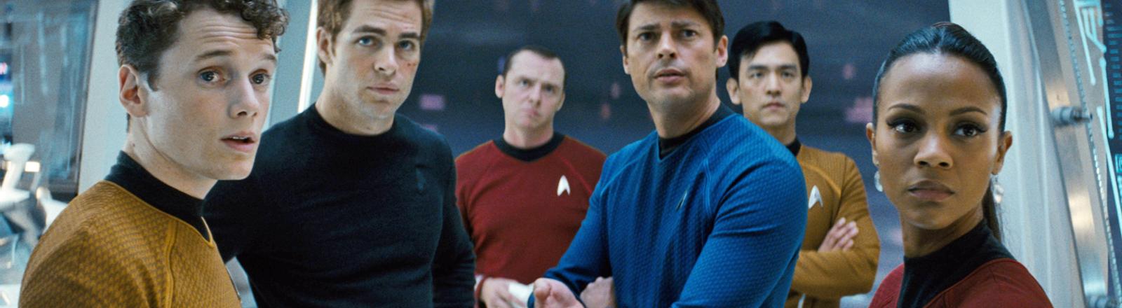 Star Trek: Die Crew der Enterprise um Captain James Kirk.