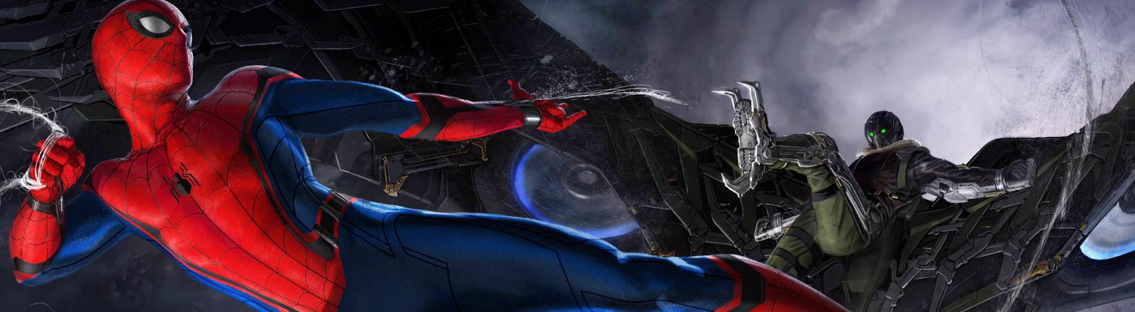 Ein Artwork zum Spider-Man-Film mit Tom Holland.