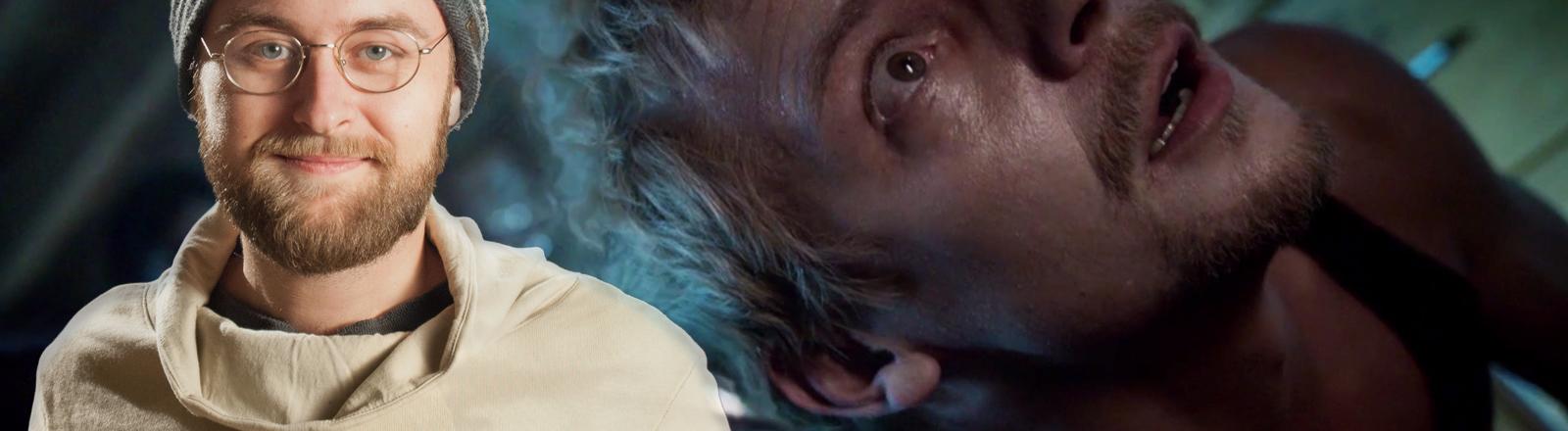 Max Ponischowski und eine Szene aus seinem Film Träumer.