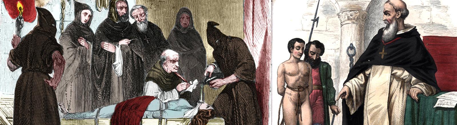 Spanische Inquisition: Angeklagte werden gefoltert.