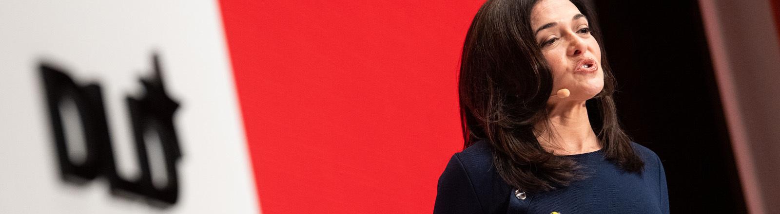 Sheryl Sandberg 2019 bei der DLD-Konferenz in München.