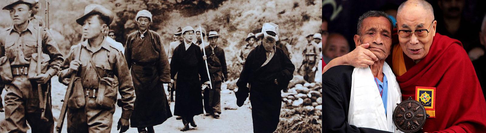 Im Jahr 1959 flieht der 14. Dalai Lama ins indische Exil.