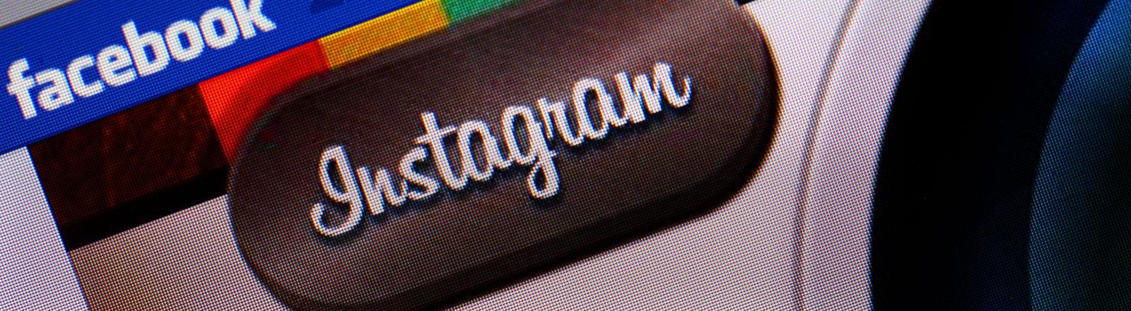 Instagram und Facebook.