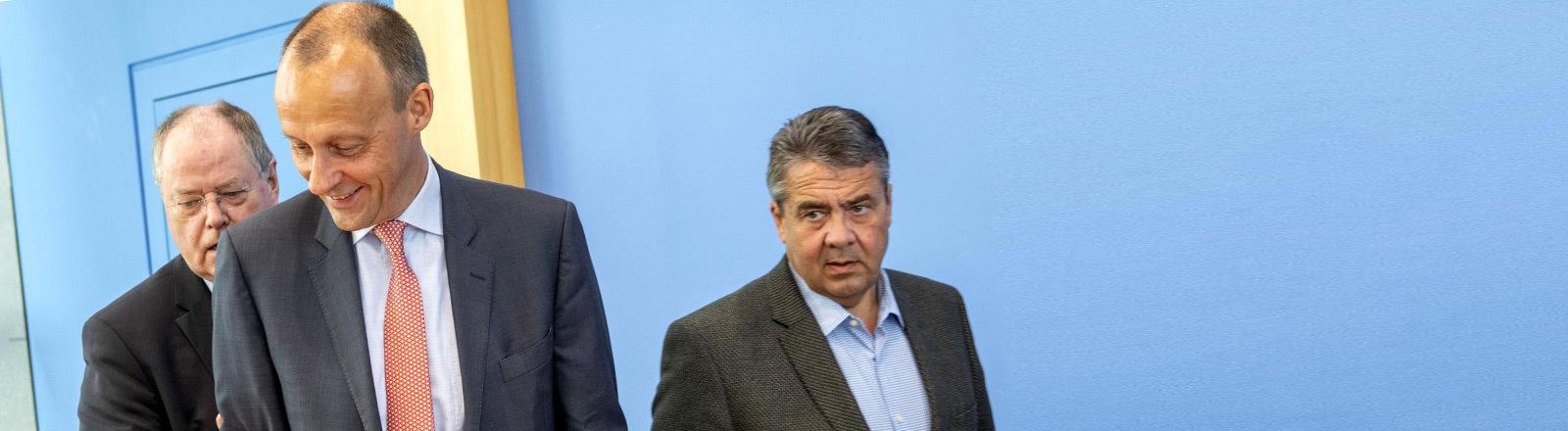 Friedrich Merz und Sigmar Gabriel