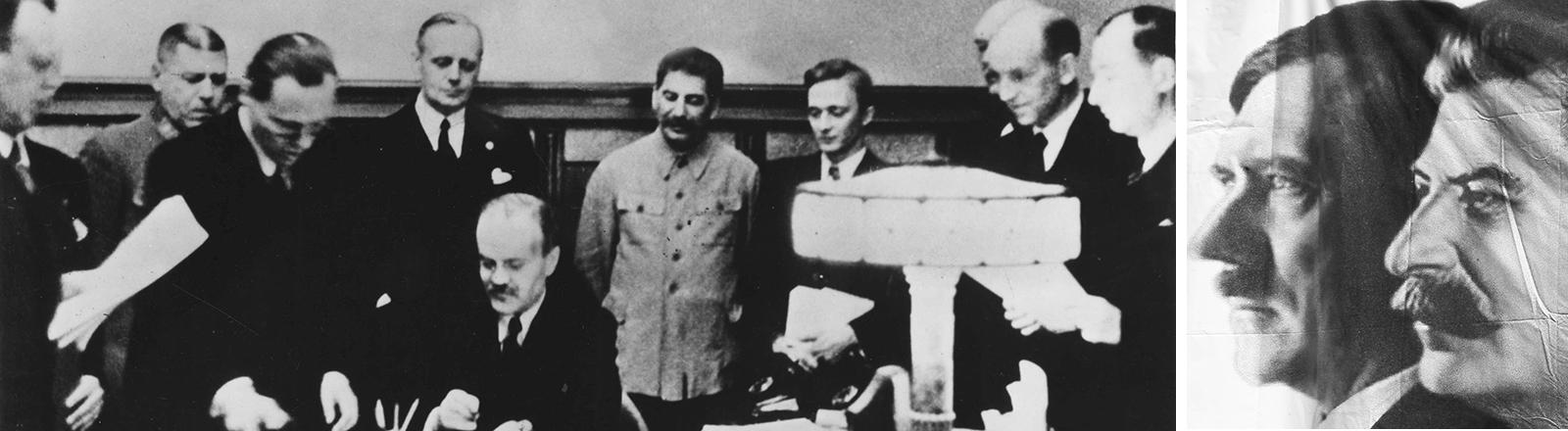 Unterzeichnung des Hitler-Stalin-Pakts.
