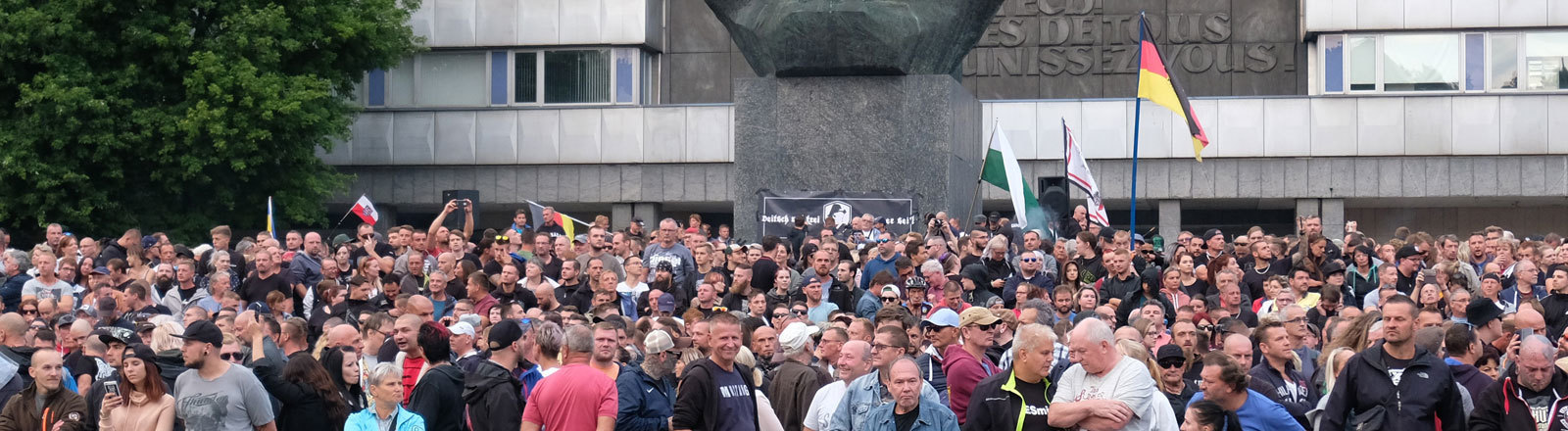 Eine Demonstration in Chemnitz