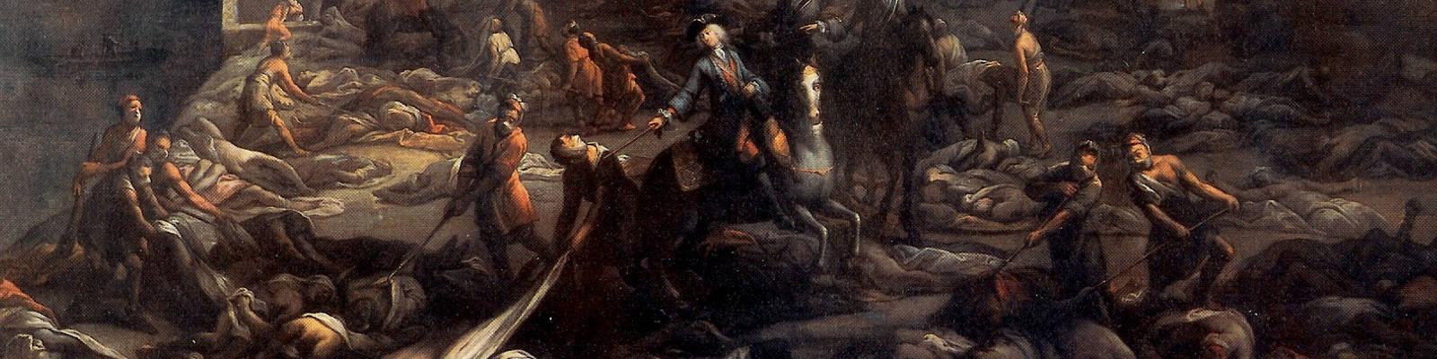 Ein Gemälde einer Pest-Szene in Marseille im Jahr 1720