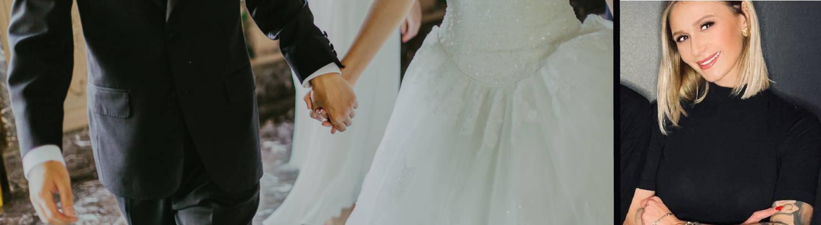 Bild eines Hochzeitspaares und von Lena