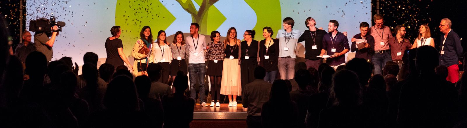 Festivalteam beim Bundesfestival Junger Film