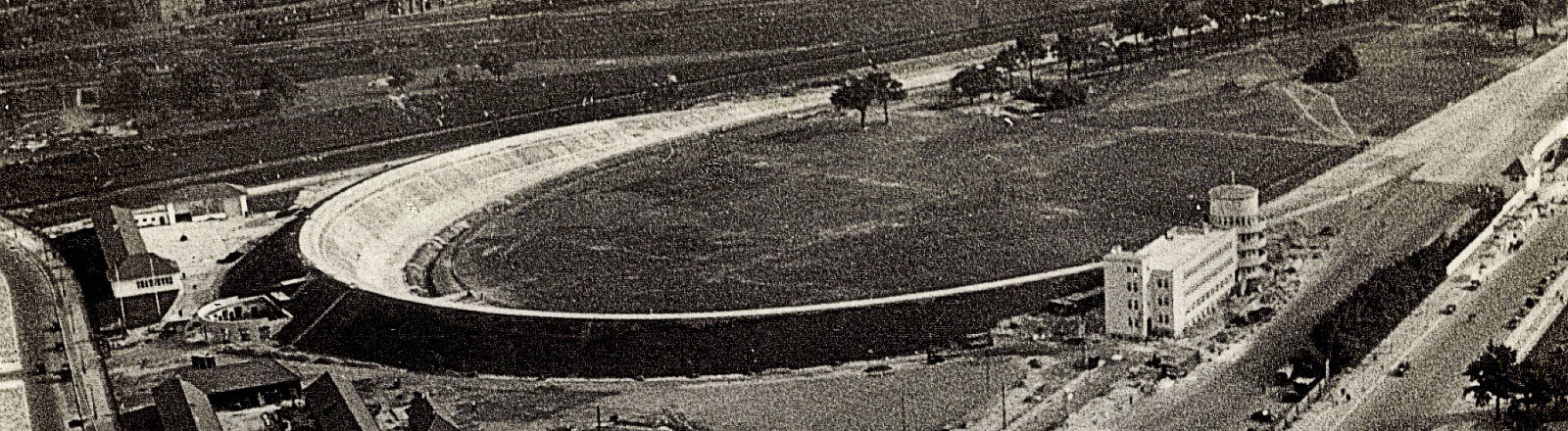 Avus, historische Aufnahme, etwa 1935