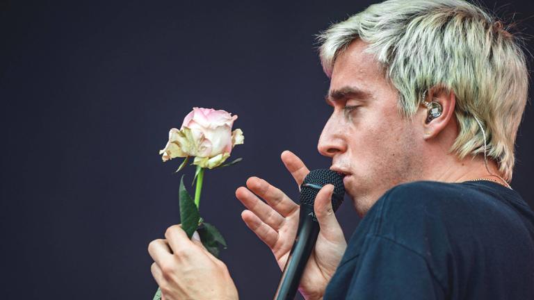 Maurice von Bilderbuch bei Lollapalooza-Festival in Berlin