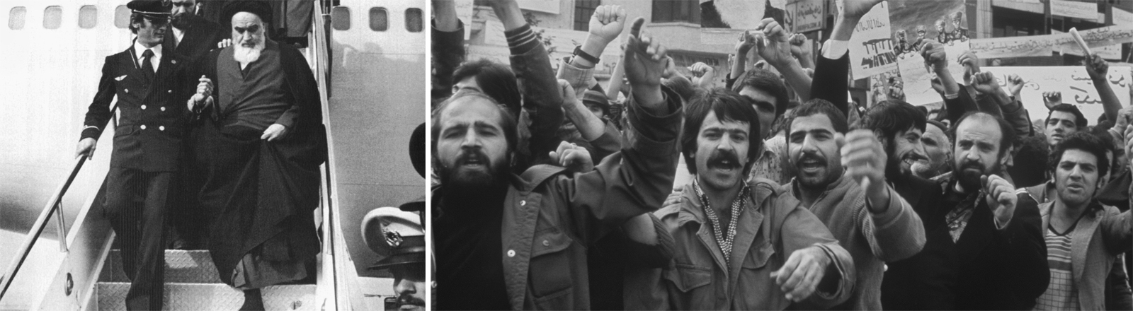 Jubel für den Exilanten: Ayatollah Khomeineis Rückkehr in den Iran im Jahr 1979