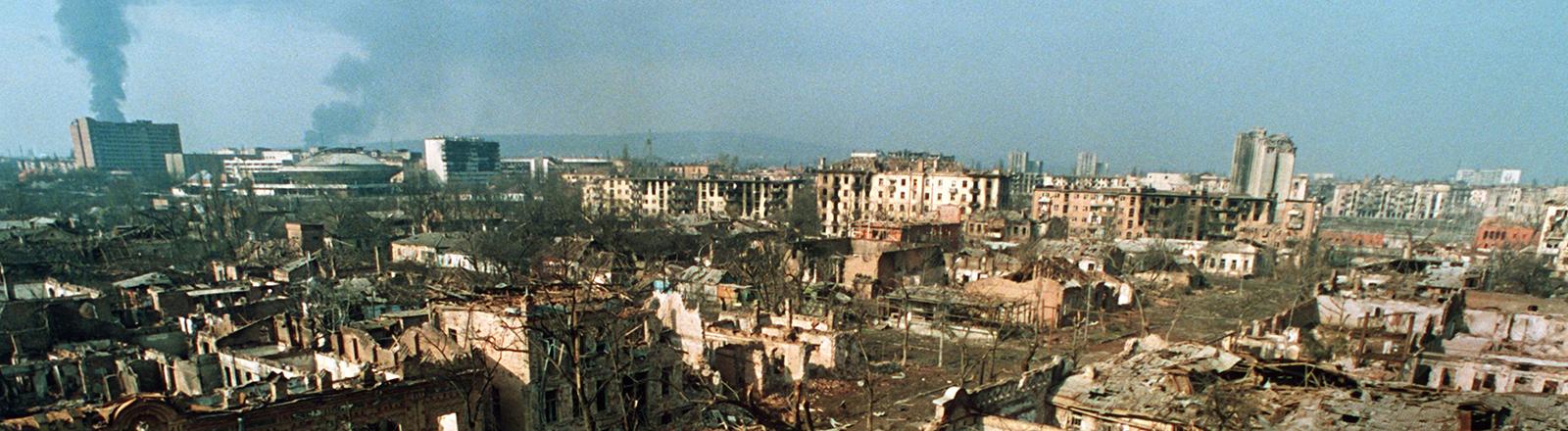 Die tschetschenische Hauptstadt Grosny am 20.02.1995