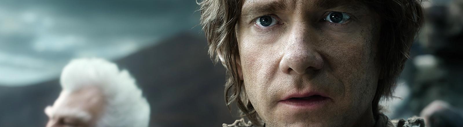 """Martin Freeman als Bilbo Beutlin in einer Szene des Films """"Der Hobbit - Die Schlacht der fünf Heere"""""""