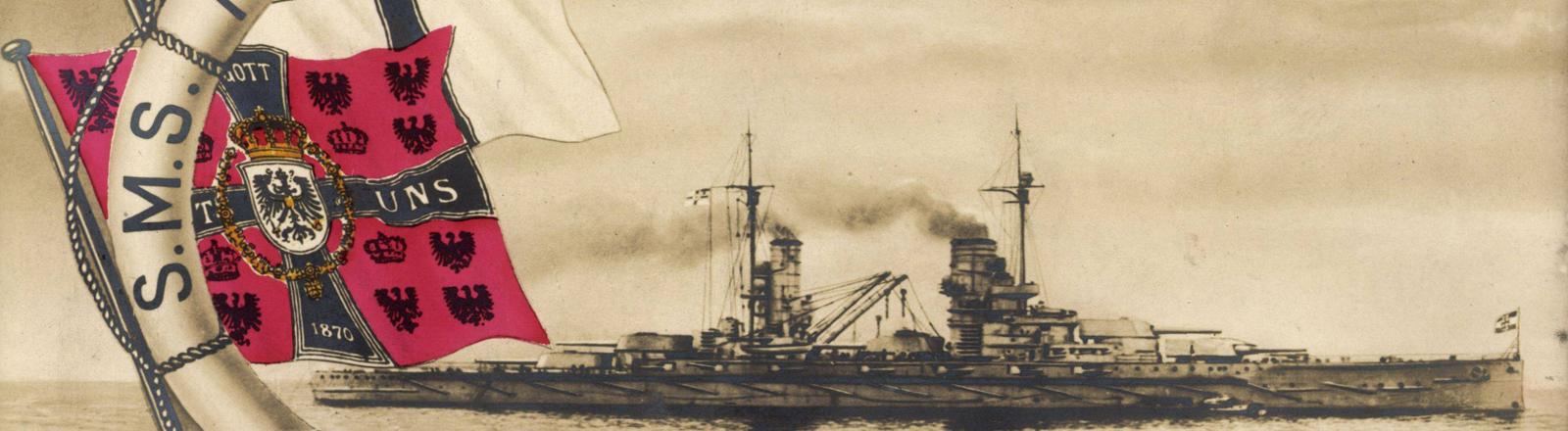 """Kriegsschiff S.M.S """"König auf hoher See"""""""