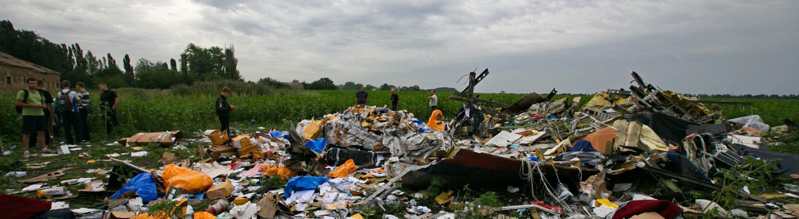 Trümmer des Flugzeugs MH17