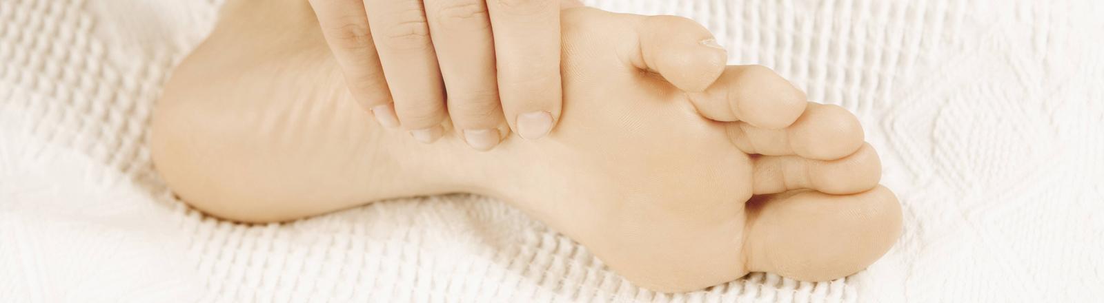Nackter Fuß
