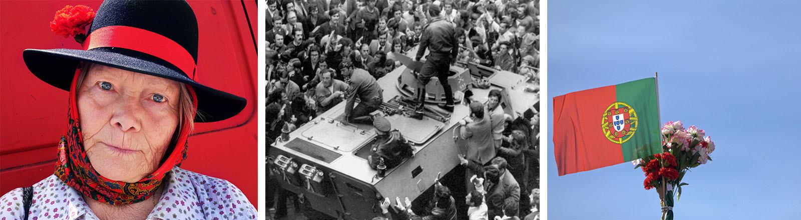 1974 markiert die Nelkenrevolution einen relativ friedlichen Umsturz.