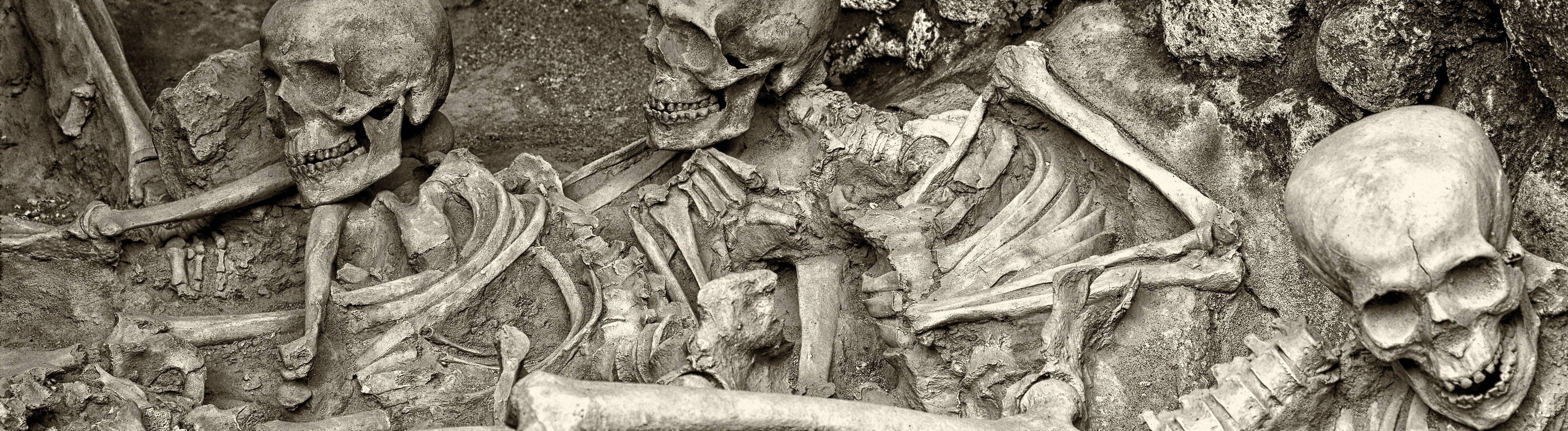 Skelette in Pompeji