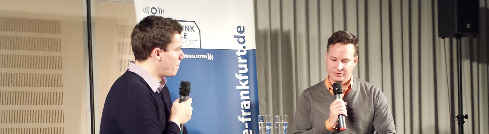 Dennis Horn und Richard Gutjahr