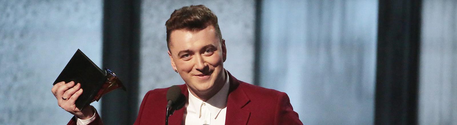 Sam Smith bei der 57-Grammy-Verleihung in Los Angeles