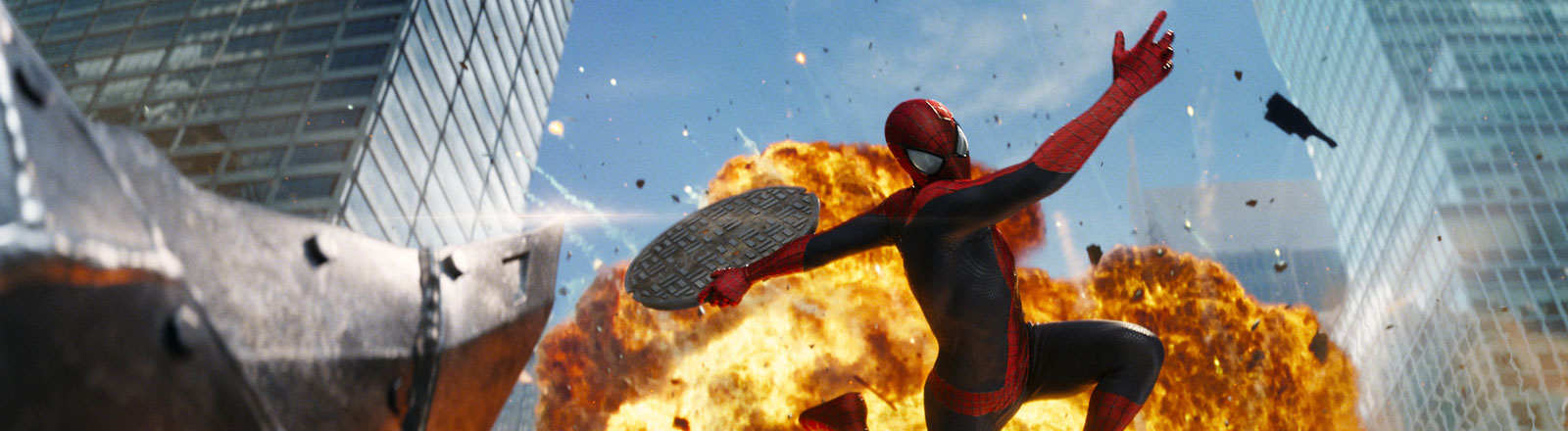 """Andrew Garfield als Spider-Man in einer Szene des Kinofilms """"The Amazing Spider-Man 2: Rise Of Electro"""""""