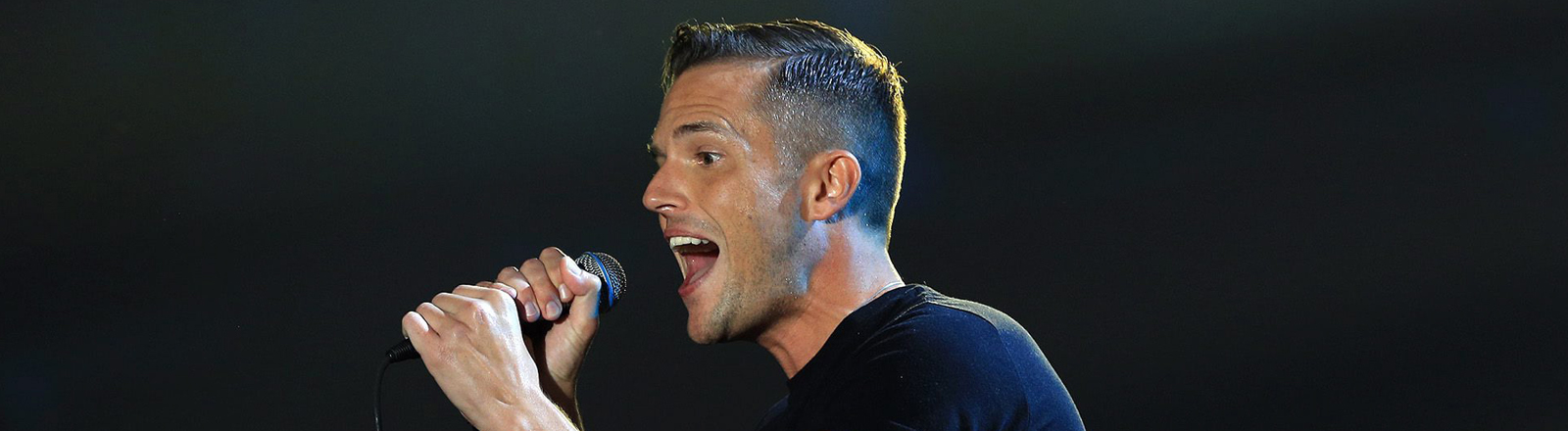 Brandon Flowers von der Band The Killers bei den MTV Europe Music Awards in Amsterdam am 12. November 2013.