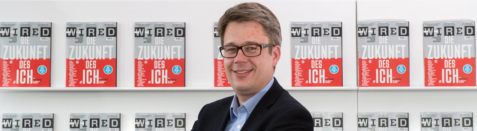 """Der Chefredakteur der Zeitschrift """"Wired Germany"""", Nikolaus Röttger, aufgenommen am 20.10.2014 in München"""