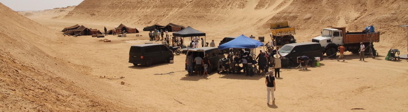 Dreharbeiten in der Wüste