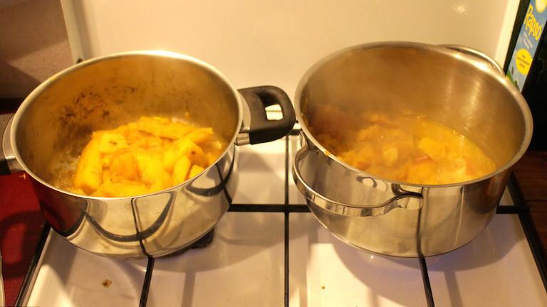 Hier köcheln Püree und Suppe.