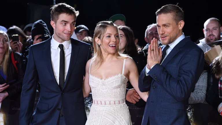 "Robert Pattinson, Sienna Miller und Charlie Hunnam bei der Premiere von ""Lost City of Z"" in London 16.2.2017."