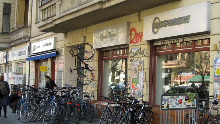 Die Fahrradwerkstatt Radspannerei in Berlin-Kreuzberg.