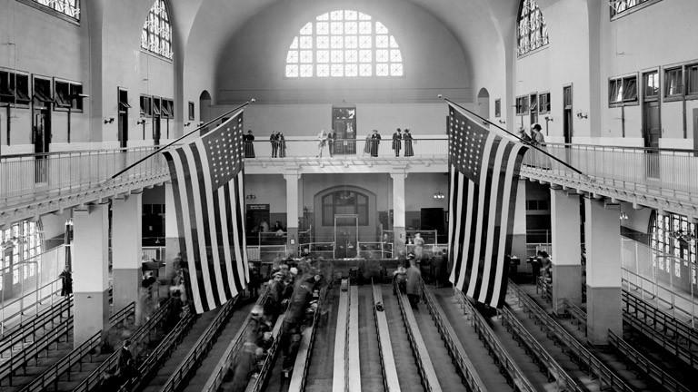 Gebäude auf Ellis Island