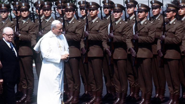 Militärischer Empfang für Johannes Paul II. 1979 in Polen