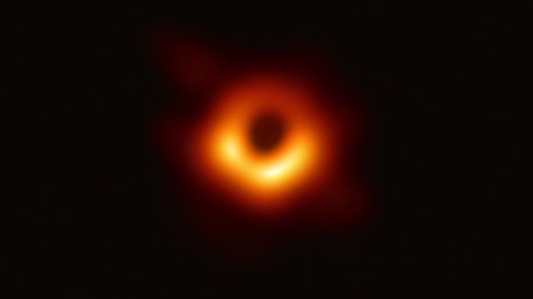 Fotos eines Schwarzen Lochs.